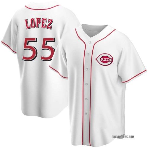 Alejo Lopez Cincinnati Reds Men's Replica Home Jersey - White