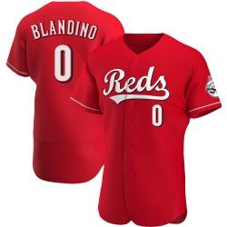 Alex Blandino Cincinnati Reds Men's Authentic Alternate Jersey - Red