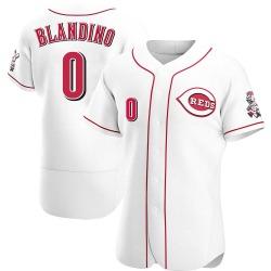 Alex Blandino Cincinnati Reds Men's Authentic Home Jersey - White