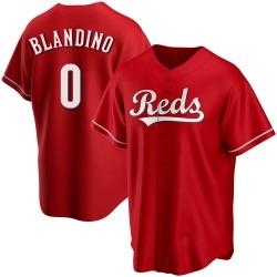 Alex Blandino Cincinnati Reds Men's Replica Alternate Jersey - Red