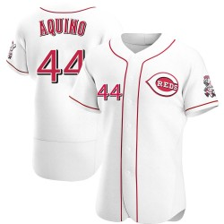 Aristides Aquino Cincinnati Reds Men's Authentic Home Jersey - White