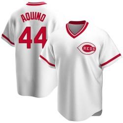 Aristides Aquino Cincinnati Reds Men's Replica Home Cooperstown Collection Jersey - White