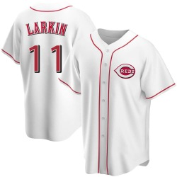 Barry Larkin Cincinnati Reds Men's Replica Home Jersey - White