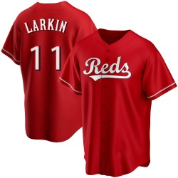 Barry Larkin Cincinnati Reds Youth Replica Alternate Jersey - Red