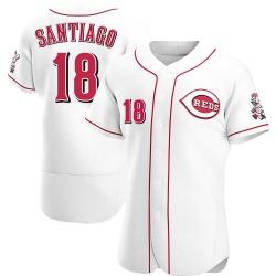 Benito Santiago Cincinnati Reds Men's Authentic Home Jersey - White
