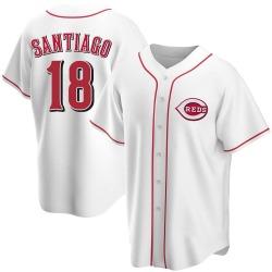 Benito Santiago Cincinnati Reds Youth Replica Home Jersey - White