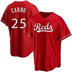 Bernie Carbo Cincinnati Reds Men's Replica Alternate Jersey - Red