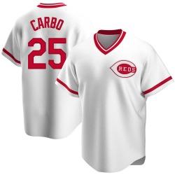 Bernie Carbo Cincinnati Reds Men's Replica Home Cooperstown Collection Jersey - White