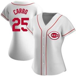 Bernie Carbo Cincinnati Reds Women's Replica Home Jersey - White