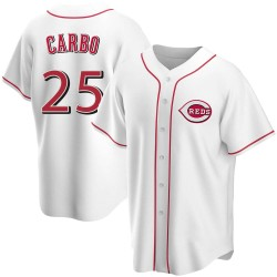 Bernie Carbo Cincinnati Reds Youth Replica Home Jersey - White