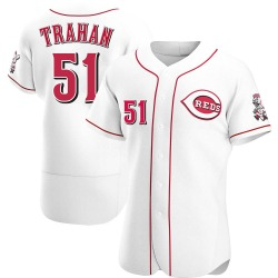 Blake Trahan Cincinnati Reds Men's Authentic Home Jersey - White
