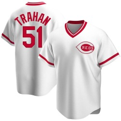 Blake Trahan Cincinnati Reds Men's Replica Home Cooperstown Collection Jersey - White