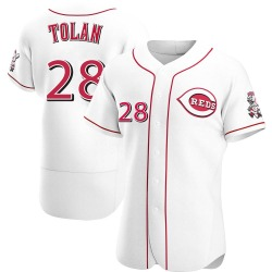 Bobby Tolan Cincinnati Reds Men's Authentic Home Jersey - White