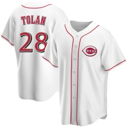 Bobby Tolan Cincinnati Reds Youth Replica Home Jersey - White