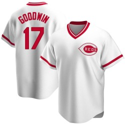 Brian Goodwin Cincinnati Reds Men's Replica Home Cooperstown Collection Jersey - White