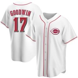 Brian Goodwin Cincinnati Reds Youth Replica Home Jersey - White