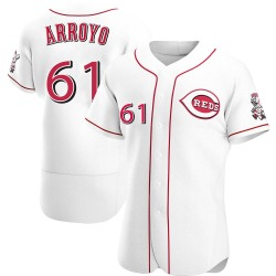 Bronson Arroyo Cincinnati Reds Men's Authentic Home Jersey - White