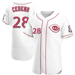 Cesar Cedeno Cincinnati Reds Men's Authentic Home Jersey - White
