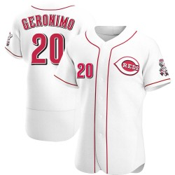 Cesar Geronimo Cincinnati Reds Men's Authentic Home Jersey - White