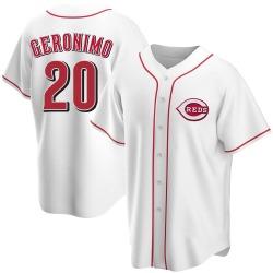 Cesar Geronimo Cincinnati Reds Men's Replica Home Jersey - White