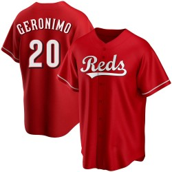 Cesar Geronimo Cincinnati Reds Youth Replica Alternate Jersey - Red