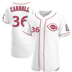 Clay Carroll Cincinnati Reds Men's Authentic Home Jersey - White