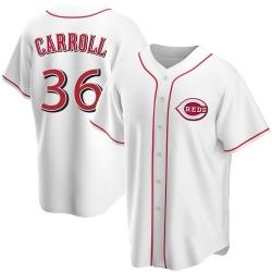 Clay Carroll Cincinnati Reds Men's Replica Home Jersey - White