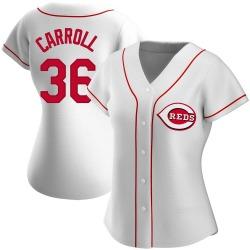 Clay Carroll Cincinnati Reds Women's Replica Home Jersey - White