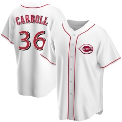 Clay Carroll Cincinnati Reds Youth Replica Home Jersey - White