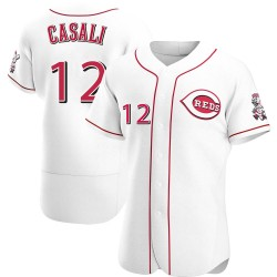 Curt Casali Cincinnati Reds Men's Authentic Home Jersey - White