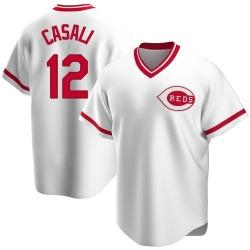 Curt Casali Cincinnati Reds Men's Replica Home Cooperstown Collection Jersey - White