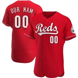 Custom Cincinnati Reds Men's Authentic Alternate Jersey - Red
