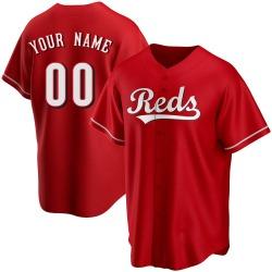 Custom Cincinnati Reds Men's Replica Alternate Jersey - Red