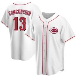 Dave Concepcion Cincinnati Reds Men's Replica Home Jersey - White
