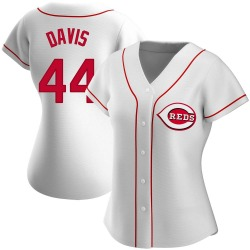 Eric Davis Cincinnati Reds Women's Authentic Home Jersey - White
