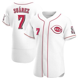 Eugenio Suarez Cincinnati Reds Men's Authentic Home Jersey - White