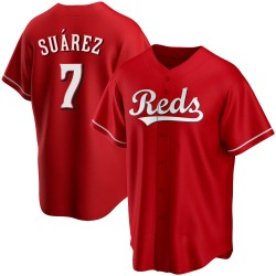 Eugenio Suarez Cincinnati Reds Youth Replica Alternate Jersey - Red