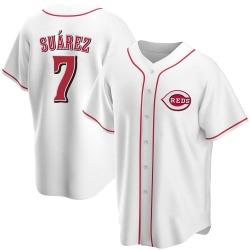 Eugenio Suarez Cincinnati Reds Youth Replica Home Jersey - White