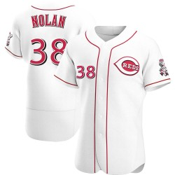 Gary Nolan Cincinnati Reds Men's Authentic Home Jersey - White