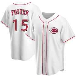 George Foster Cincinnati Reds Men's Replica Home Jersey - White