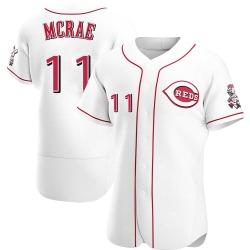 Hal Mcrae Cincinnati Reds Men's Authentic Home Jersey - White