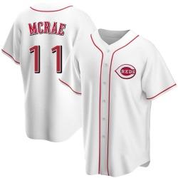 Hal Mcrae Cincinnati Reds Men's Replica Home Jersey - White
