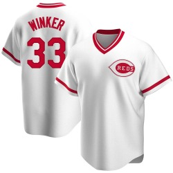 Jesse Winker Cincinnati Reds Youth Replica Home Cooperstown Collection Jersey - White