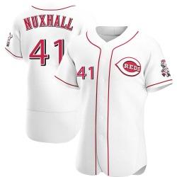 Joe Nuxhall Cincinnati Reds Men's Authentic Home Jersey - White