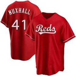 Joe Nuxhall Cincinnati Reds Men's Replica Alternate Jersey - Red