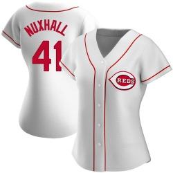 Joe Nuxhall Cincinnati Reds Women's Authentic Home Jersey - White