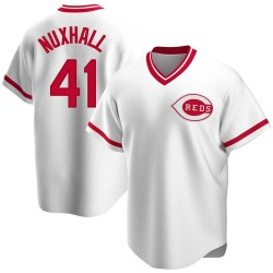 Joe Nuxhall Cincinnati Reds Youth Replica Home Cooperstown Collection Jersey - White