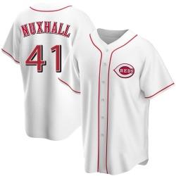 Joe Nuxhall Cincinnati Reds Youth Replica Home Jersey - White
