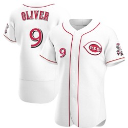 Joe Oliver Cincinnati Reds Men's Authentic Home Jersey - White