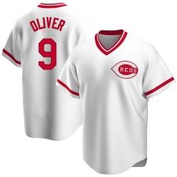 Joe Oliver Cincinnati Reds Men's Replica Home Cooperstown Collection Jersey - White